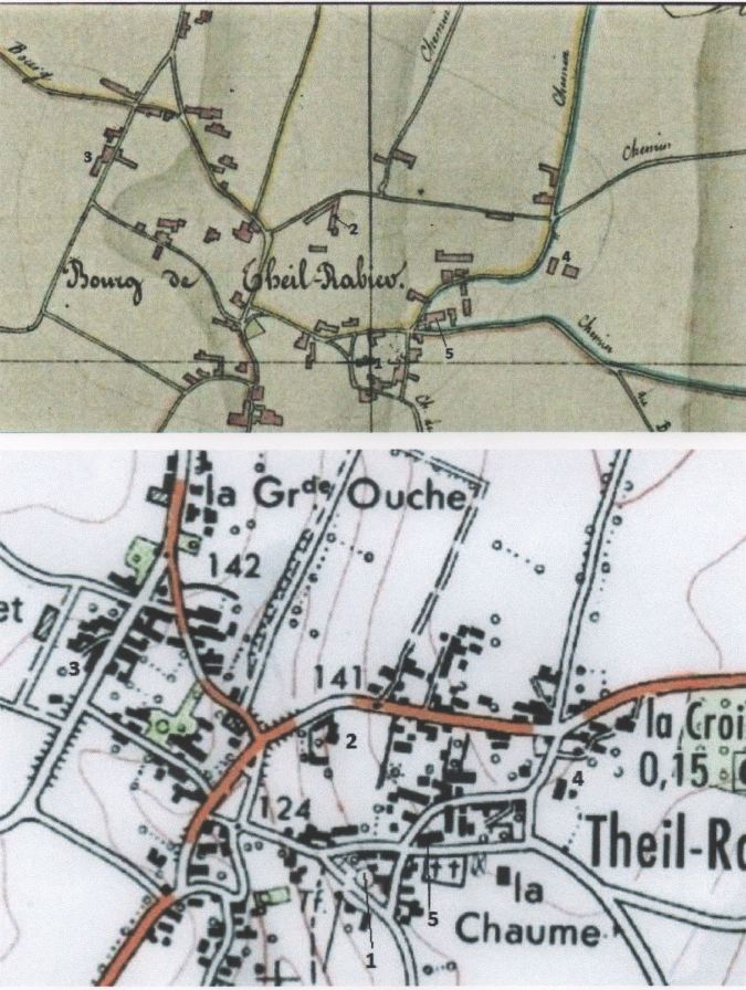 Le cadastre de 1830 et celui d'aujourd'hui